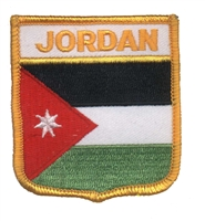 JORDAN medium flag shield souvenir embroidered patch