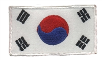 6464 - KOREA flag souvenir embroidered patch