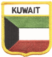 6471 - KUWAIT medium  flag shield souvenir embroidered patch