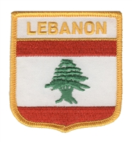 6481 - LEBANON medium flag shield souvenir embroidered patch