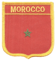6501 - MOROCCO medium flag shield souvenir embroidered patch