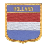 6516 - HOLLAND medium flag shield souvenir embroidered patch
