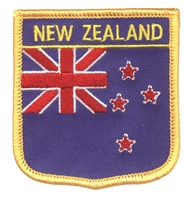 6521 - NEW ZEALAND medium flag shield souvenir embroidered patch
