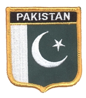 6551 - PAKISTAN flag medium shield souvenir embroidered patch