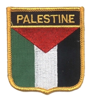 6561 - PALESTINE medium flag shield souvenir embroidered patch