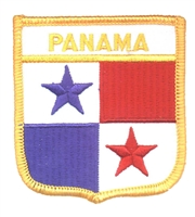 6571 - PANAMA medium flag shield souvenir embroidered patch