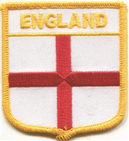ENGLAND St. George medium flag shield uniform or souvenir embroidered patch