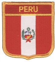 6591 - PERU medium flag shield souvenir embroidered pat