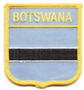 6598 - BOTSWANA medium flag shield souvenir embroidered patch