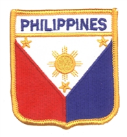 6601 - PHILIPPINES flag shield uniform or souvenir embroidered patch