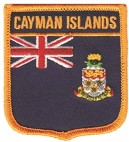 6610 - CAYMAN ISLANDS medium flag shield souvenir embroidered patch
