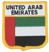 6617 - UNITED ARAB EMIRATES medium flag shield souvenir embroidered patch