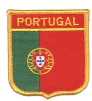 6621 - PORTUGAL medium flag shield souvenir embroidered patch