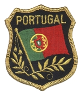PORTUGAL mylar shield uniform or souvenir embroidered patch