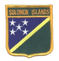 6625 - SOLOMON ISLANDS medium flag shield souvenir embroidered patch
