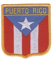6631 - PUERTO RICO medium flag shield souvenir embroidered patch