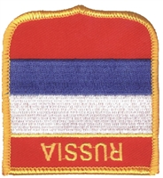 6651 - RUSSIA medium flag shield souvenir embroidered patch