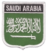 6661 - SAUDI ARABIA medium flag shield souvenir embroidered patch