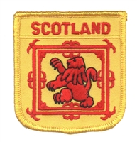 6671 - SCOTLAND medium flag shield souvenir embroidered patch