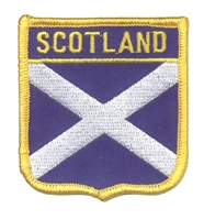 6673 - SCOTLAND (St Andrews cross) medium flag shield souvenir embroidered patch