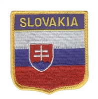 6676 - SLOVAKIA medium flag shield souvenir embroidered patch