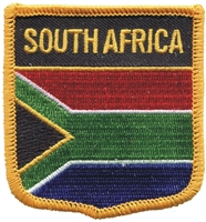 6691 - SOUTH AFRICA medium flag shield souvenir embroidered patch