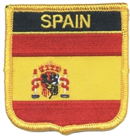 6711 - SPAIN medium flag shield souvenir embroidered patch