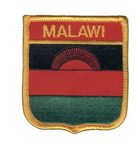 6716 - MALAWI medium flag shield souvenir embroidered patch