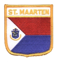 ST. MAARTEN medium flag shield souvenir embroidered patch