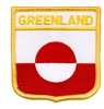 6757 - GREENLAND medium flag shield souvenir embroidered patch