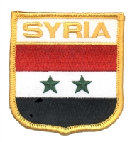6761 - SYRIA medium flag shield souvenir embroidered patch