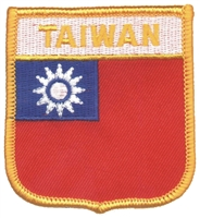 6771 - TAIWAN medium flag shield souvenir embroidered patch