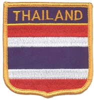 6781 - THAILAND medium flag shield souvenir embroidered patch