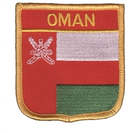 6783 - OMAN medium flag shield souvenir embroidered patch