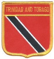 6791 - TRINIDAD AND TOBAGO medium flag shield souvenir embroidered patch