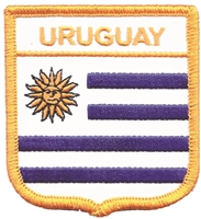 6811 - URUGUAY medium flag shield souvenir embroidered patch