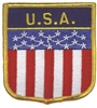 6821 - USA flag shield uniform or souvenir embroidered patch
