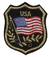 6822 - USA mylar flag shield souvenir embroidered patch