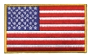 "6829-G - US flag  2.875"" tall x 4.875 wide embroidered patch for souvenir or uniform"