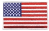 "6829-W  -  US flag white border: 2.875"" tall x 4.875"" wide - embroidered patch for souvenir or uniform"
