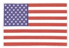 US flag 100% embroidered souvenir or uniform back patch with a white border