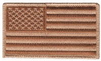 6834-DESERT - USA flag uniform or souvenir embroidered patch