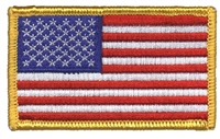 USA flag embroidered patch for souvenir or uniform