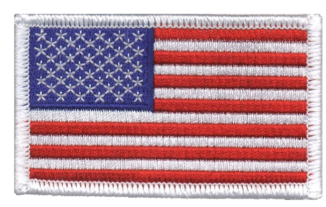 USA flag uniform or souvenir embroidered patch