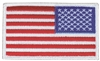 US flag - reverse right side uniform or souvenir embroidered patch