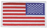 6834R-W -  US flag - reverse right side uniform or souvenir embroidered patch