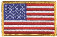 US flag embroidered patch for uniform or souvenir