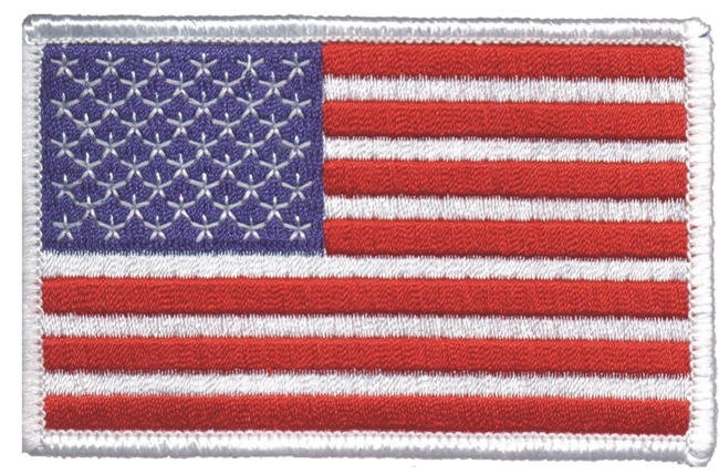"6837-W - 2.25"" tall x 3.5"" wide uniform or souvenir embroidered patch"