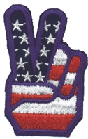 6847 - peace fingers souvenir embroidered patch