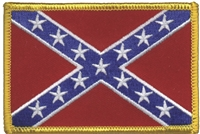 6854 - rebel -confederate flag historical, uniform, or souvenir embroidered patch
